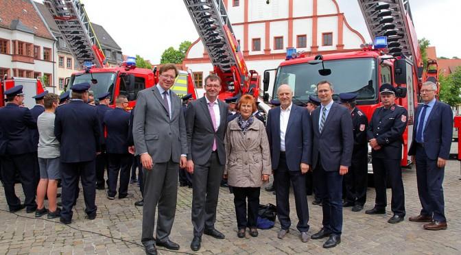 Millioneninvestition in Feuerwehrtechnik: Bund, Land, Landkreis und Kommune ziehen an einem Strang